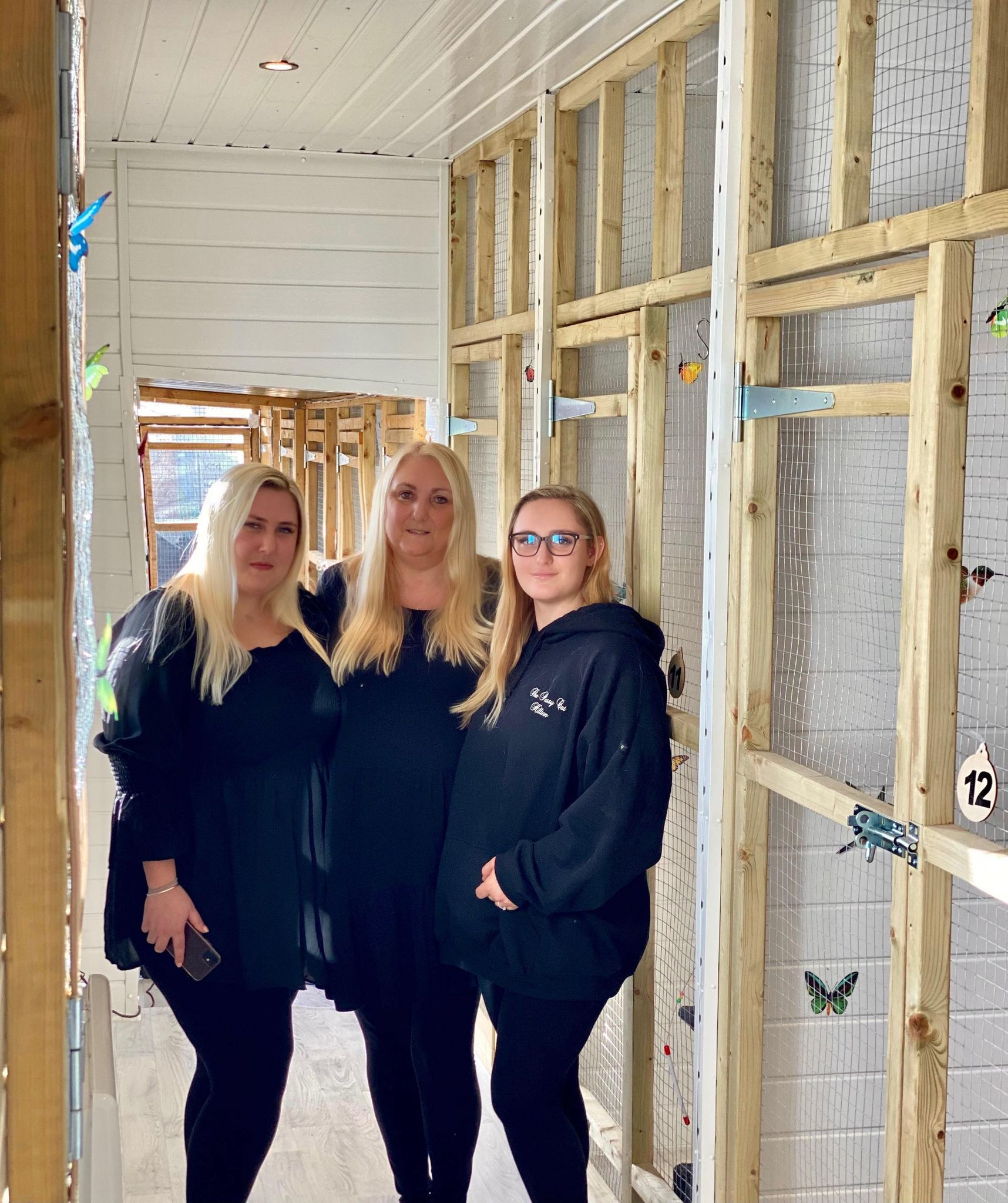 Katie, Debbie and Chloe in our Butterfly Rooms.